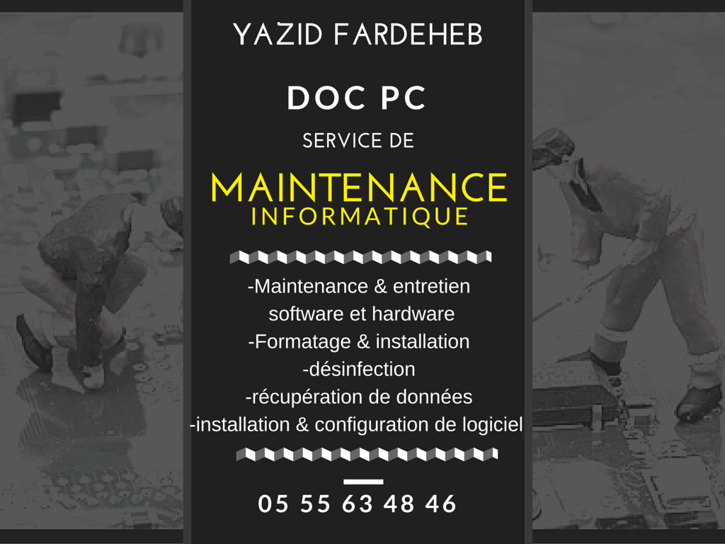 maintenance software & hardware ouedkniss