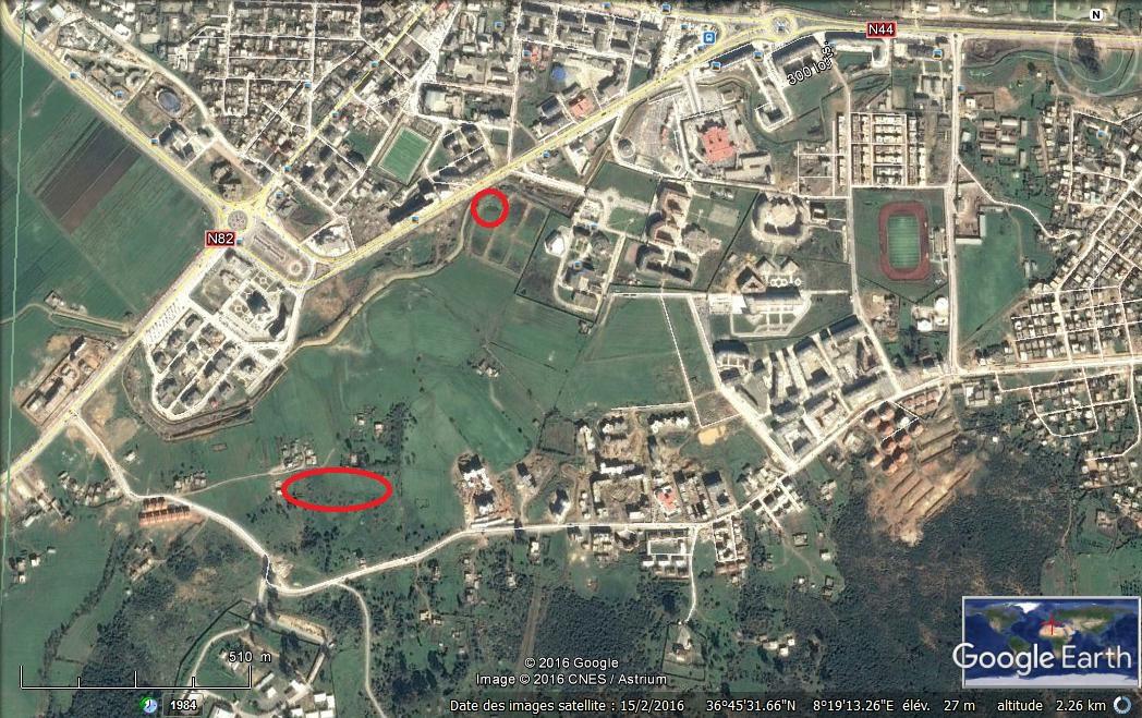 بيع قطعة أرض صالحة للبناء بولاية الطارف مركز (Nouvelle ville) عبارة عن تجمع عمراني مهيأة ouedkniss
