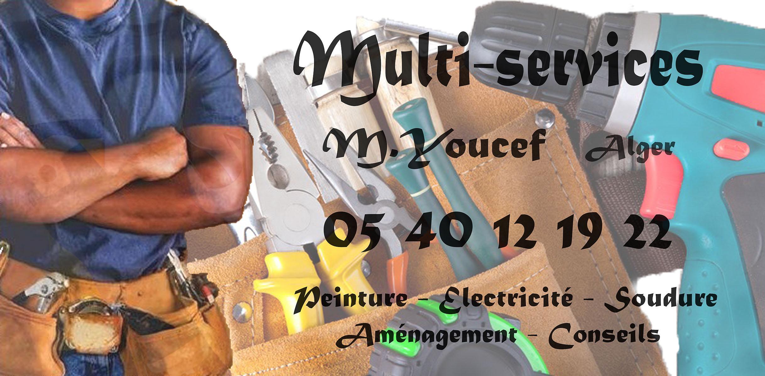 Bricole :Peinture - électricité soudure Aménagement conseils ouedkniss